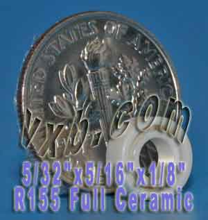 "R155 Full Ceramic Bearing 5/32""x5/16""x1/8"":vxb:Ball Bearing"