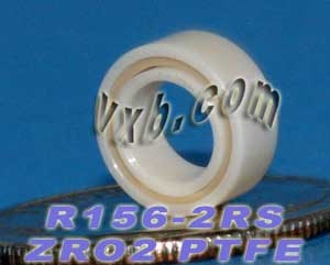 "R156-2RS Full Ceramic Bearing 3/16""x5/16""x1/8"":vxb:Ball Bearing"