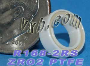 "R168-2RS Full Ceramic Bearing 1/4""x3/8""x1/8"":vxb:Ball Bearing"