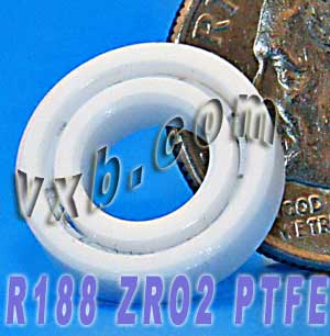 "R188 Full Ceramic Bearing 1/4""x1/2""x1/8"":vxb:Ball Bearing"