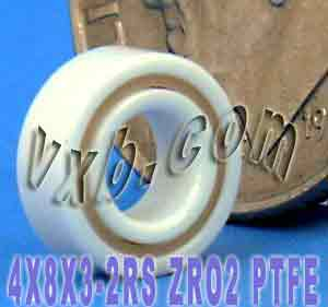 Full Ceramic Sealed Bearing 4x8x3 ZrO2:vxb:Ball Bearing