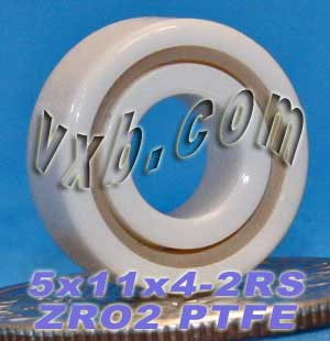 Full Ceramic Sealed Bearing 5x11x4 ZrO2:vxb:Ball Bearing