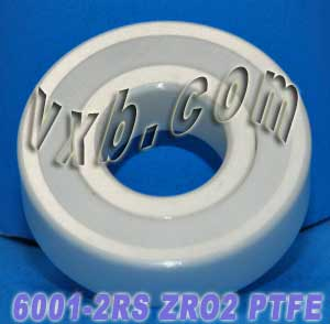 6001-2RS Full Ceramic Sealed Bearing 12x28x8 ZrO2:vxb:Ball Bearing