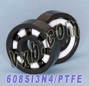 8x22 Full Ceramic 608 Bearing 8x22x7 Silicon Nitride:vxb:Ball Bearing