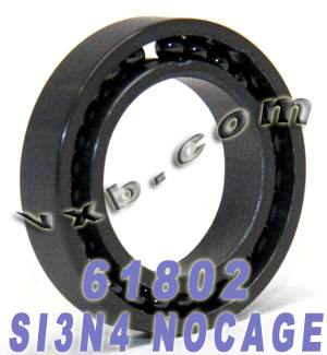 61802 Full Complement Ceramic Si3N4:vxb:Ball Bearing
