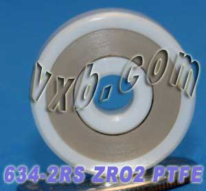 Full Ceramic Sealed Bearing 4x16x5 ZrO2:vxb:Ball Bearing