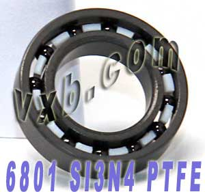 6801 Full Ceramic Bearing 12x21x5 Si3N4/PTFE:vxb:Ball Bearings