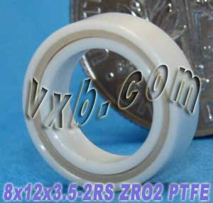 Full Ceramic Sealed Bearing 8x12x3.5 ZrO2:vxb:Ball Bearing