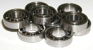 10 Bearing SMR62 2x6x2.5 Stainless:Open:vxb:Ball Bearing