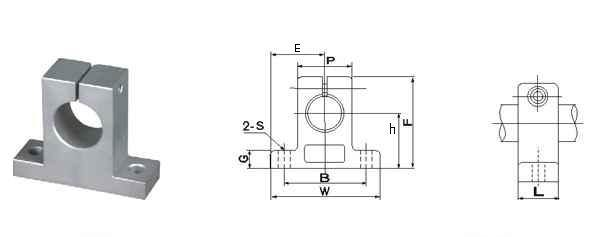 40mm Shaft Support Pillow Block:vxb:Ball Bearing