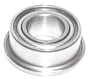 "Flanged Bearing SFR155ZZ 5/32""x5/16""x1/8"" Stainless:Shielded:vxb:Ball Bearings"