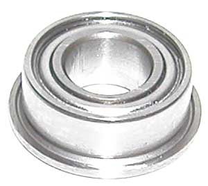 "Flanged Bearing SFR144ZZ 1/8""x1/4""x7/64"" Stainless:Shielded:vxb:Ball Bearings"
