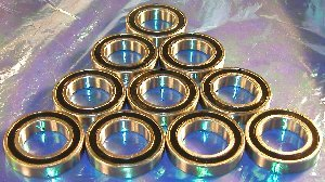 10 Bearing 6801-2RS 12x21x5 Sealed:vxb:Ball Bearing
