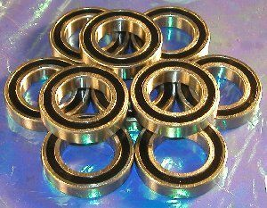10 Bearing 6801-2RS 12x21x5 Sealed:vxb:Ball Bearings