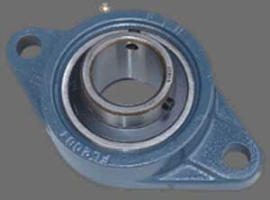 35mm Mounted Bearing UCFL207 + 2 Bolts Flanged Cast Housing:vxb:Ball Bearing