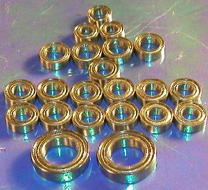 Set 23 Bearing Associated RC10 GT/ST/Team:vxb:Ball Bearing