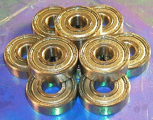 "10 Bearings 1602ZZ 1/4""x11/16""x1/4"" Shielded:vxb:Ball Bearings"
