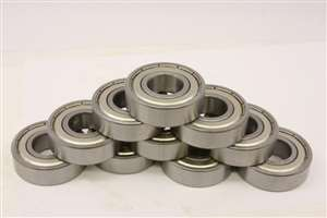 10 Bearing 2.5x6x2.6 Stainless:Shielded:vxb:Ball Bearings