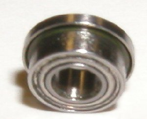 "10 Flanged SLOT CAR Axle Bearing 1/8""x1/4""x7/64"" Stainless:Single Shielded:vxb:Ball Bearings"