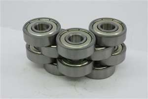 "10 Bearing R2AZZ 1/8""x1/2""x11/64"" Shielded:vxb:Ball Bearings"