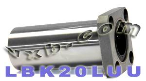 20mm Long Square Flanged Linear Motion Bushing:vxb:Ball Bearings
