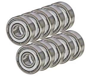 10 Bearing 4x8 Shielded 4x8x3:vxb:Ball Bearings
