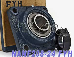 "1 1/2"" Mounted Bearing NANF208-24 + Pillow Block Cast Housing:vxb:Ball Bearing"