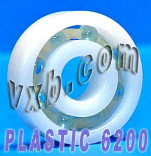 POM 6200 Plastic Radial With Glass Ball Bearing 10x30x9:vxb:Ball Bearing