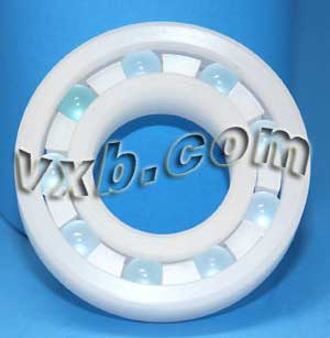 "1/2""x1 1/8""x5/16"" Plastic Radial With Glass Bearing:vxb:Ball Bearing"