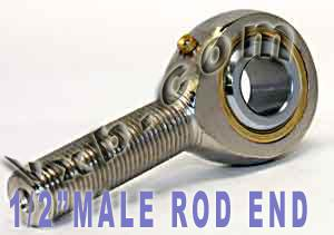 "Male Rod End 1/2"" Inch POSB8L Heim Joint:vxb:Ball Bearing"