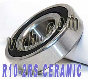 "R10-2RS Bearing Hybrid Ceramic Sealed 5/8""x1 3/8"":vxb:Ball Bearing"