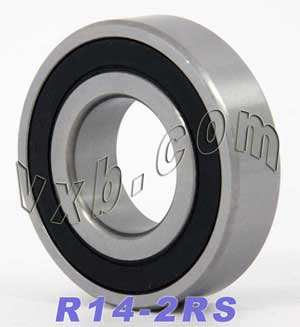 "R14-2RS Bearing 7/8""x1 7/8""x1/2"" Sealed:vxb:Ball Bearing"