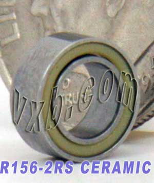 "R156-2RS Ceramic Bearing 3/16""x5/16""x1/8"":Sealed:vxb:Ball Bearing"
