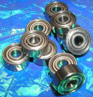 "10 Bearings R156ZZ  3/16""x5/16""x1/8"" Shielded:vxb:Ball Bearings"
