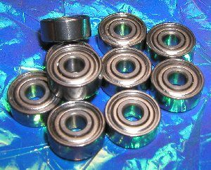 "10 Bearing R155ZZ 5/32""x5/16""x1/8"" Shielded:vxb:Ball Bearings"
