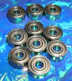 "10 Shielded Bearings R2ZZ 1/8""x3/8""x5/32"":vxb:Ball Bearing"