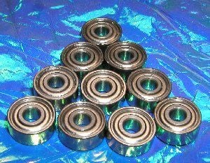 "10 Bearing R168ZZ 1/4""x3/8""x1/8"" Shielded:vxb:Ball Bearing"