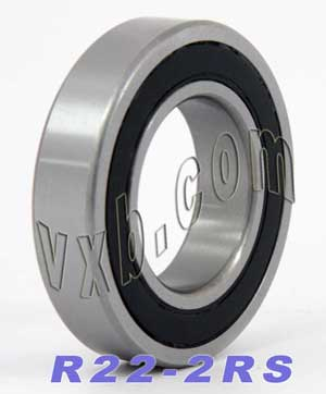 "R22-2RS Bearing 1 3/8""x2 1/2""x9/16"" (balls material):Steel:Sealed:ABEC 1:vxb:Ball Bearing"