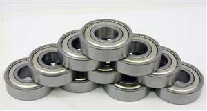 "10 Bearings R8ZZ 1/2""x1 1/8""x5/16"" Shielded:vxb:Ball Bearings"
