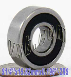 "Bearing 1/4""x15.62mmx.196"" Stainless:Sealed:vxb:Ball Bearing"
