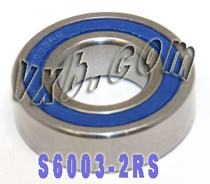 S6003-2RS Bearing 17x35x10:Stainless:Sealed:vxb:Ball Bearing