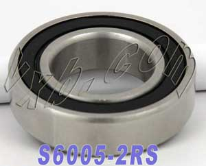 S6005-2RS Bearing 25x47x12:Stainless:Sealed:vxb:Ball Bearing