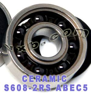 S608-2RS Ceramic ABEC-5 bearing:VXB Ball Bearing