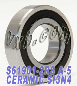 6901-2RS Bearing 12x24x6 Ceramic:Stainless:Sealed:ABEC-5:vxb:Ball Bearing