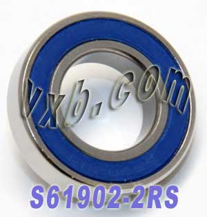 S61902-2RS Bearing 15x28x7 Stainless:Sealed:vxb:Ball Bearing