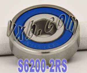 S6200-2RS Stainless Steel Bearing 10x30x9:Sealed