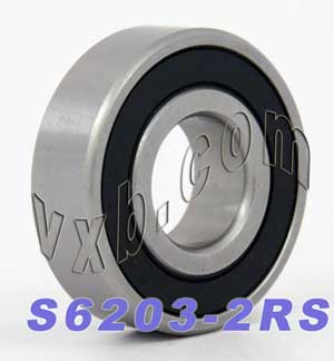 S6203-2RS Bearing 17x40x12:Stainless:Sealed:vxb:Ball Bearing
