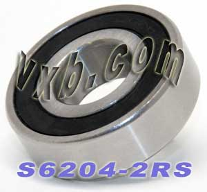 6204-2RS Bearing 20x47x14:Stainless:Sealed:vxb:Ball Bearing