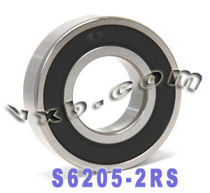 S6205-2RS Bearing 25x52x15:Stainless:Sealed:vxb:Ball Bearing
