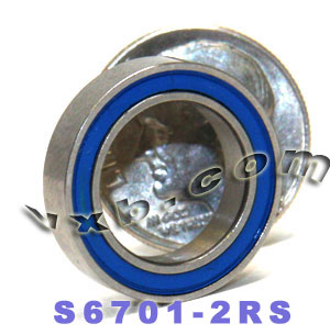 S6701-2RS Bearing 12x18x4 Stainless:Sealed:vxb:Ball Bearing